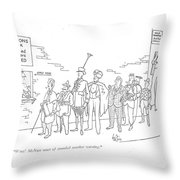 Wow! Mcnutt Must Of Sounded Another Warning Throw Pillow