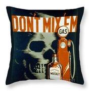 Wpa  Vintage Safety Poster Throw Pillow
