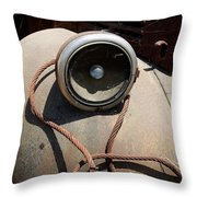 Wrapped Head Lamp Throw Pillow