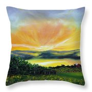 Wrapped In Light Throw Pillow