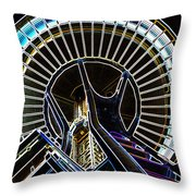 Wrapped In Neon Throw Pillow
