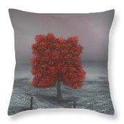 Wrapped In Red Throw Pillow