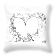 Wrapped In The Arms Of His Love Throw Pillow