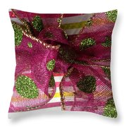 Wrapped Up With A Bow Throw Pillow