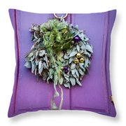 Wreath 17 Throw Pillow