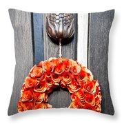 Wreath 31 Throw Pillow