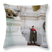Wreath And Guard At The Tomb Of The Unknown Soldier Throw Pillow