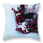 Wreathing Winter Sorrows Throw Pillow