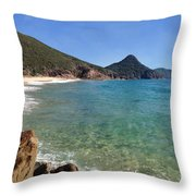 Wreck Beach Shoal Bay Port Stephens Throw Pillow