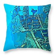 Wreck Diving Make The Discovery Throw Pillow