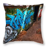 Wrecked British Columbia Train Throw Pillow