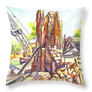 Wrecking Ball Throw Pillow