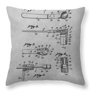 Wrench Patent Drawing Throw Pillow
