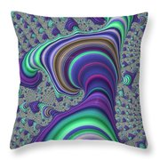 Wriggle Thru Time Throw Pillow