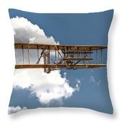 Wright Brothers First Flight Throw Pillow