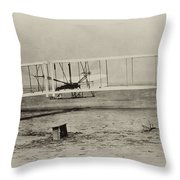 Wright Brothers - First In Flight Throw Pillow