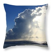 Wrightsville Beach Skyscape Throw Pillow