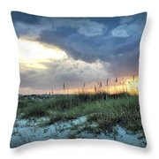 Wrightsville Beach South End Sunset Throw Pillow