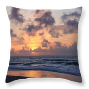 Wrightsville Beach Sunrise Throw Pillow