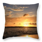 Wrightsville Beach Sunset Throw Pillow