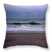 Wrightsville Sunset Waves Throw Pillow