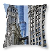 Wrigley And Trump In Harmony Throw Pillow