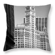 Wrigley Building - A Chicago Original Throw Pillow