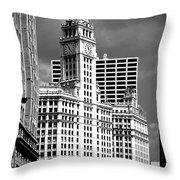 Wrigley Building Chicago Illinois Throw Pillow