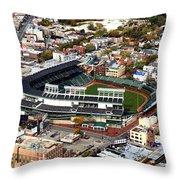 Wrigley Field Chicago Sports 01 Throw Pillow