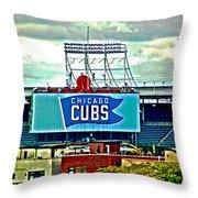Wrigley Field Chicago Cubs Throw Pillow