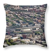 Wrigley Field - Home Of The Chicago Cubs Throw Pillow