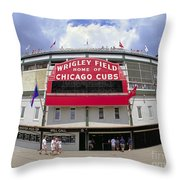Wrigley Field Marquee Throw Pillow