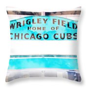 Wrigley Field Sign - X-ray Throw Pillow