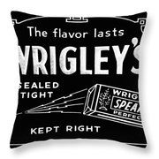 Wrigleys Spearmint Gum Throw Pillow