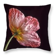 Wrinkled Rose Throw Pillow