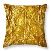 Wrinkled Paper Throw Pillow