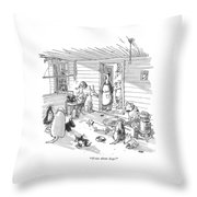 Write About Dogs! Throw Pillow