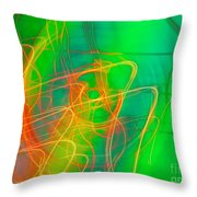 Write Light Rainbow Throw Pillow