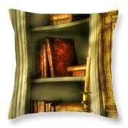 Writer - In The Library  Throw Pillow