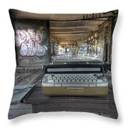 Writers Block Throw Pillow