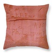Writing In The Desert Throw Pillow