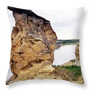 Writing-on-stone Provincial Parks Throw Pillow