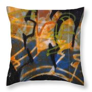 Writing On The Wall 3 Throw Pillow
