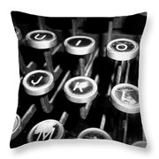 Writing The Great Novel - Black And White Throw Pillow