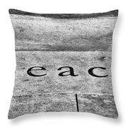 Written In Stone Throw Pillow by Christi Kraft