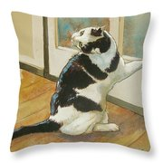 Wrong Side Of The Door Throw Pillow