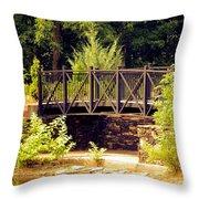 Wrought Iron Bridge Throw Pillow