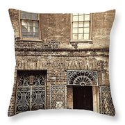 Wrought Iron Gates Throw Pillow