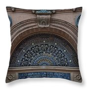 Wrought Iron Grille - The Omaha Building Throw Pillow