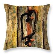 Wrought Iron Handle Throw Pillow